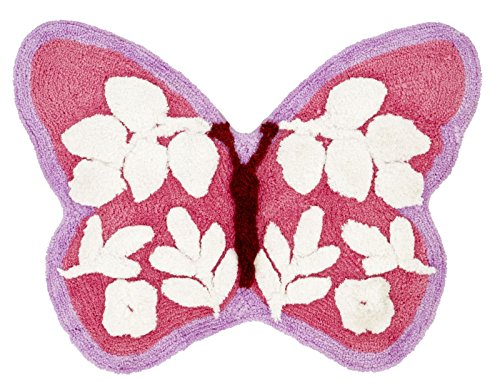 Catherine lansfield butterfly–tappeto per bambini, rosa