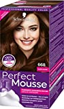 Schwarzkopf Perfect Mousse Permanente Schaumcoloration, 668 Haselnuss Stufe 3, 3er Pack (3 x 93 ml)