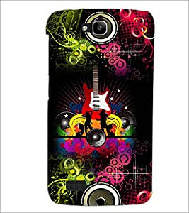 PrintDhaba Guitar D-4617 Back Case Cover for HUAWEI HONOR HOLLY (Multi-Coloured)