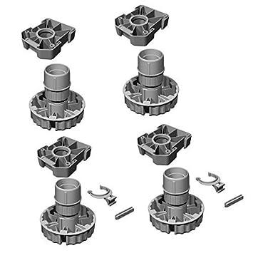 Küchen unterschrank schwarz  4er Set - GedoTec® Möbelfüße Küchen-Unterschrank Sockelfüße ...