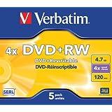 Verbatim Boîte de 5 DVD + RW 4 x 4,7 Go