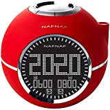 NAFNAF Clockine Radiowecker mit Projektion, rot DNI013