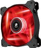 Corsair SP120 LED PC-Gehäuselüfter (120mm, Leise, Hoher Luftdurchsatz, rot LED, Single Pack)
