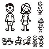 Auto Etichetta, Finestrino della macchina riflessivo Decorazione decalcomania, Famiglia Felice, Colore casuale