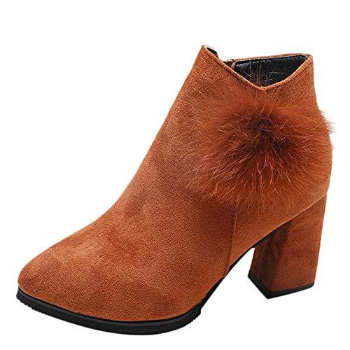 Nusgear stivali donna classici invernali pelle eleganti donne ragazze moda tacco alto faux pelliccia appuntato scarpe caviglia stivali corti pelle mocassini invernali zip ankle boots