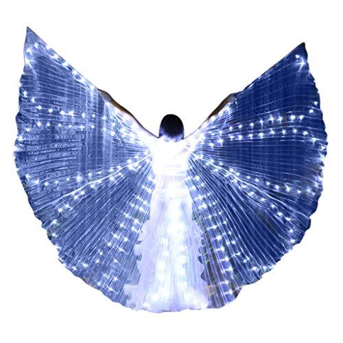 Dasongff LED Bauchtänzerin Isis Flügel Halloween spaß Darstellende Künste,Einschließlich Stöcke/Ruten für Bühnen Weihnachten Cosplay Party Maskenspiel (Halloween Zu Kostüme Leicht Machen,)