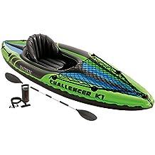 Intex 68305EP, Kayak Inflable, 1 Persona, 100 kg, PVC, Negro, Verde, 274 X 76 X 33 cm (Modelo variable según imagen)