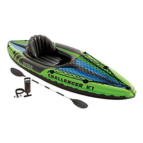 Intex - Kayak hinchable challenger k1 & 1 remo - 274 x 76 x 33 cm (68305NP)...