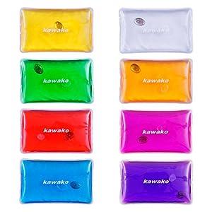 Taschenwärmer 8er Set Multicolor – Rechteck Matte – Handwärmer Heizpad Wärmepad Firebag