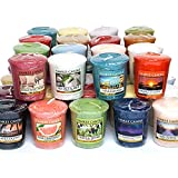 Ensemble de 40 bougies en cire de marque Yankee Candle issues de la collection Classique, parfums assortis