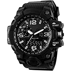 SKMEI Mens Multifunction Digital Sport Watch, Heavy Duty, 165 FT Water resistant - Black