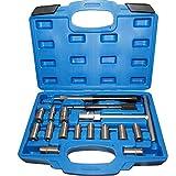 SHIOUCY 17 tlg Diesel Injektor Auszieher Werkzeug Set Injektoren Reiniger Einspritzdüsen Abzieher Reibahle Universal Versand aus Deutschland