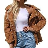 ITISME FRAUEN BLUSE Damen Damen Warme Künstliche Wollmantel Reißverschluss Jacke Winter Parka Oberbekleidung