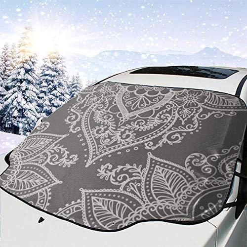 Lilyo-ltd Boho-Ornament, Auto-Windschutzscheibe, Sonnenschutz für die meisten Autos, SUV, LKW, schützt vor Hitze und Sonne, hält Ihr Fahrzeug kühl -