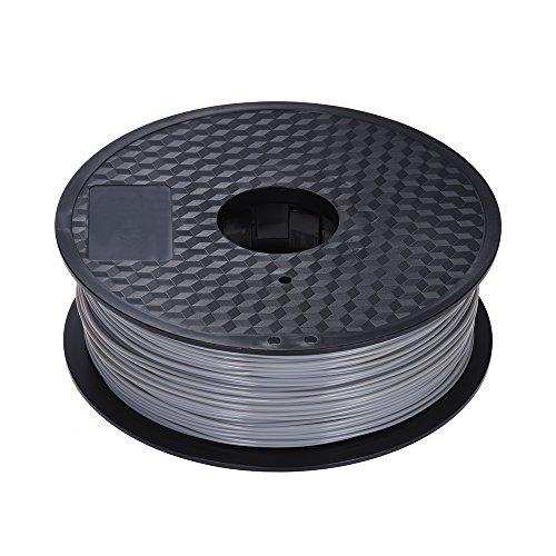 Preisvergleich Produktbild Aibecy 10 Farbe ABS Filament 1, 75 mm 1kg Rolle für 3D Drucker MakerBot RepRap 3D Drucker Stift,  Beige / Golden / Grau / Schwarz / Lila / Braun / Gelb / Fluoreszenz Gelb / Fluoreszenz Orange / Fluoreszenz Rot