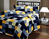 #5: eCraftIndia Checked Print Reversible Poly Cotton AC Blanket (Single Bed)