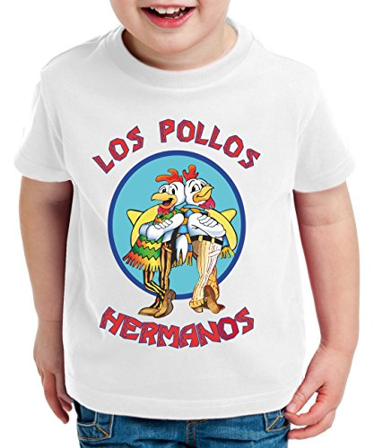 Los pollos breaking walter crystal t-shirt per bambini bad meth white tv serie, farbe2:weiß;kinder t-shirt größe:110/116