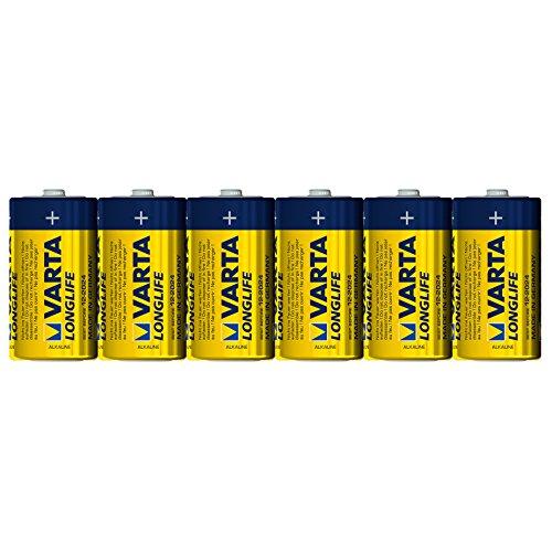 Varta Longlife Batterie C Baby Alkaline Batterien LR14-6er Pack