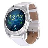 Fitness Tracker Smartwatch für Android IOS, VNEIRW K89 1.2 Zoll Blutooth Sportuhren Intelligente Uhr mit Herzfrequenz, Schrittzähler, Anti-verloren (Bildschirm: 1,2 Zoll, Weiß)