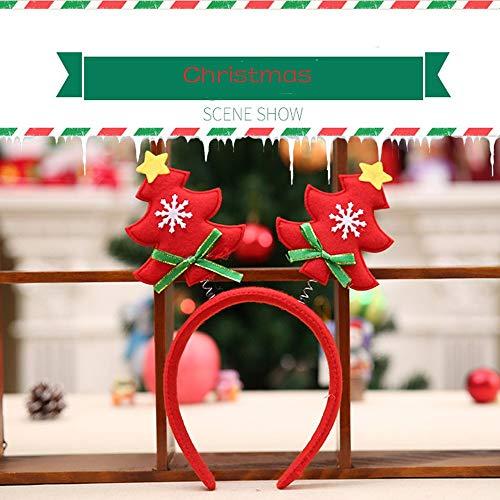 DIKHBJWQ Das niedliche Weihnachtsbaumkopfband Rot