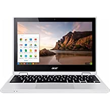 "Acer - R 11 2-in-1 11.6"" Touch-Screen Chromebook - CB5-132T-C9KK - Intel Quad-Core Celeron N3160 - 4GB Memory - 32GB EMMC Flash Memory - White"