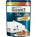 Gourmet Perle Katzenfutter Duetto di Carne mit Huhn und Rind, 24er Pack (24 x 85 g) Beutel