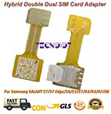 TECNOIOT Hybrid Dual SIM Card Adapter Micro SD Nano SIM Extension Adapter for Android |Dual SIM Nano zu Nano SIM Adapter SIM Karte Adapter Verlängerungskabel für Samsung Huawei Xiaomi HTC
