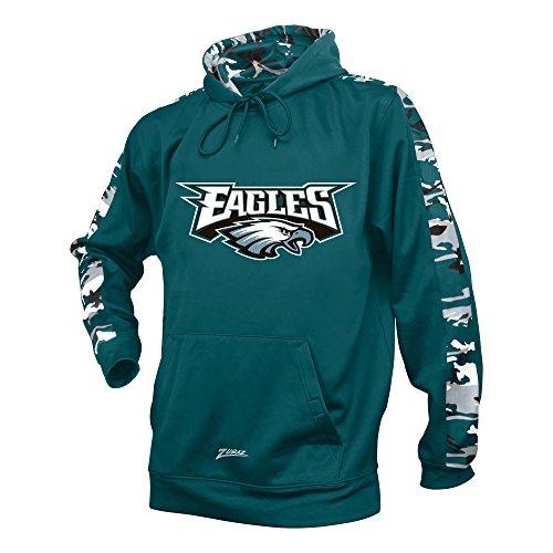 Herren NFL Camo Print Accent Team Logo Synthetik Hoodie, herren, Men's NFL Camo Print Accent Team Logo Synthetic Hoodie, Grün - Midnight Green, Small (Niners Sweatshirt)