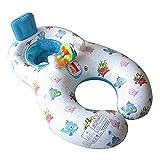 niceEshop(TM) 2 in 1 Beweglich Familie Aufblasbar Schwimmen Ring für Baby und Eltern, Weiß