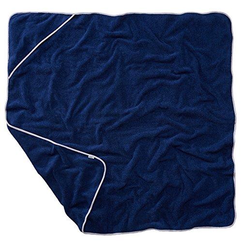 Sowel Kapuzenhandtuch für Erwachsene und Kinder, Badetuch, Handtuch mit Kapuze, 100% Baumwolle, 140x140 cm, Navy Grau