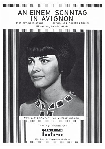 An einem Sonntag in Avignon: as performed by Mireille Mathieu, Single Songbook