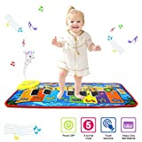 PROACC Upgrade Piano Playmat, Kids Piano Keyboard Music Playmat Toy, Large Size (31 * 13.8 Inches) Funny Dancing Mat for Babies Toddler Boys and Girls Gift (blue)