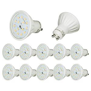 Sparpack 10x 5Watt GU10 230Volt LED Leuchtmittel 430Lumen 6500Kelvin kaltweiß für Einbaustrahler Lampe Spot Strahler Deckenlampe Leuchte Innen und Außen - SONDERPREIS