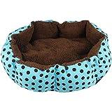 Tonsee® Small Soft Indoor Pets Dog Cat Puppy Bed Warm Sofa House Mat Nest Cushion Fleece (Blue), 36cmX30cm