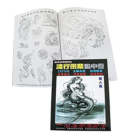 Tattoo -Flash- Livre de Tatouage - Animaux de la mer et sirènes (Book 6)