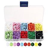Botones de resina de sicai, botones de costura redondos de 10 colores, en caja de plástico, para manualidades de costura DIY, 750 unidades