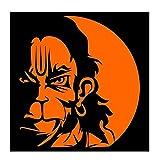 #7: ARWY Orange Lord Hanuman Sticker For Two Wheeler and 4 Wheeler