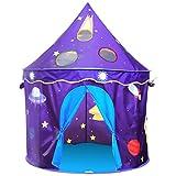 Homfu Tenda Casetta per Bambini e Bambine per Campeggio Esterno Tenda Giocattolo per Bambini con (Purple)