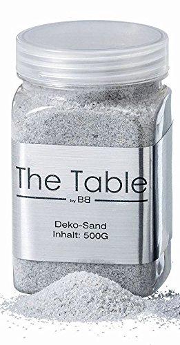 Boltze Deko Sand Streu Weiss Grau Schimmer ca 500 Gramm Home