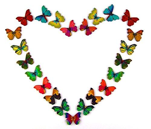 Pack of 50PCS Butterflies Button...