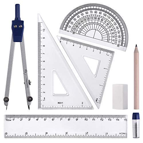 WXJ13 Zirkel Set für Mathematik Geometrie-Werkzeug Zirkel Set, 8 Teilig