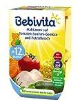 Bebivita Makkaroni auf Tomaten-Zucchini-Gemüse und Putenfleisch, 4er Pack (4 x 500 g)