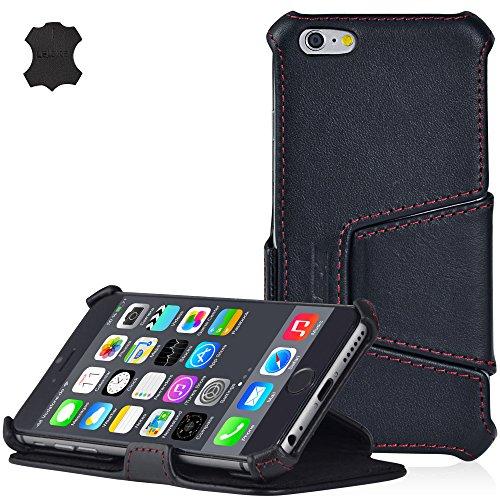 Manna UltraSlim Flip-Case für iPhone 6 (11,9cm / 4,7Zoll), Schutzhülle, feinstes Nappaleder