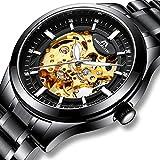 Best Relojes esqueleto - Relojes Hombre Reloj Mecánico Automático Militar Deportes Impermeable Review
