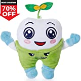 SGILE Happy Hugging Tooth Plush Toy Cuddly Snuggle Stuffed Animals Small Doll, Best Soft Petty Sleep Gift Present with Hook for Girl Boy Infant Baby