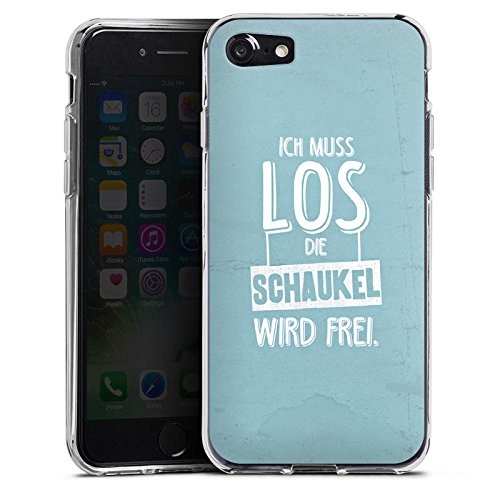 Apple iPhone X Silikon Hülle Case Schutzhülle Spruch Humor Visual Statements Silikon Case transparent
