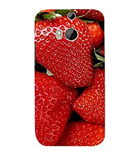 EPICCASE Strawberry love Mobile Back Case Cover For HTC One M8 (Designer Case)