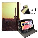 Tablet Tasche für Huawei MediaPad X2 (GEM-701L) Schutz Hülle Etui mit Standfunktion + Touch Pen - 7 Zoll Paris sun 2 360°