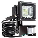 10W Motion Sensor Light,Super bright LED SAMHUE Flood Lights, High Output 900lumen, 60W Halogen Lights Equivalent Replacement, Daylight White, Waterproof , Security Light, PIR Floodlight