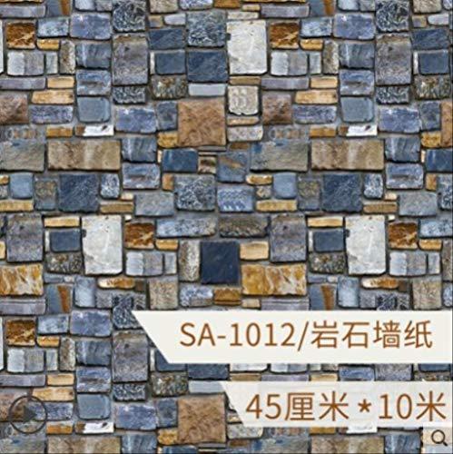 Antike Stein Tapete, Selbstklebende Wasserdichte Bar Wandaufkleber, Hotelwände Mit Vliestapete SA-1012